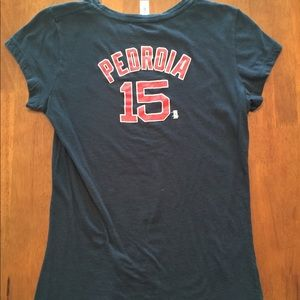 5th&Ocean Boston Red Sox Dustin Pedroia tee size L